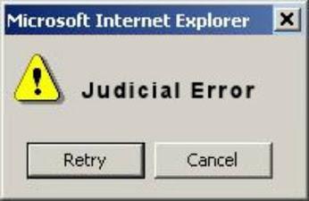 judicial error